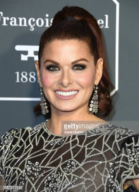 Debra Messing arrives at the The 24th Annual Critics' Choice Awards attends The 24th Annual Critics' Choice Awards at Barker Hangar on January 13...