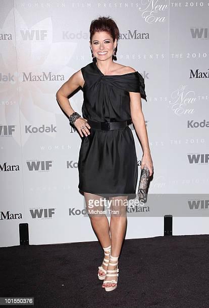 Debra Messing arrives to the Women In Film 2010 Crystal + Lucy Awards held at Hyatt Regency Century Plaza on June 1, 2010 in Century City, California.