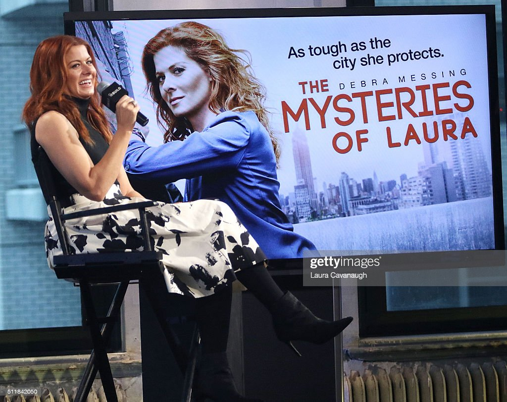 "AOL Build Speaker Series - Debra Messing, ""The Mysteries Of Laura"" : News Photo"