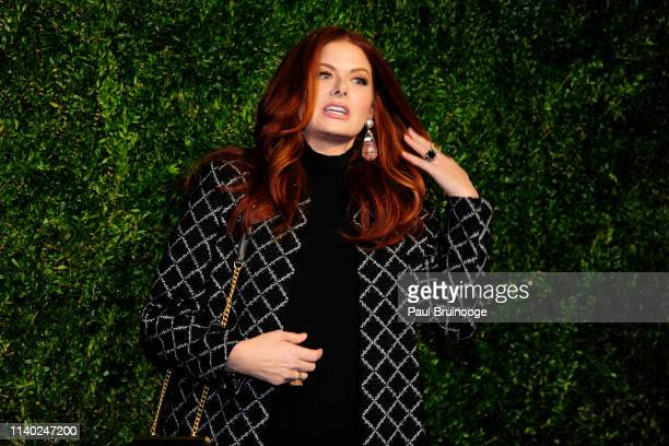 Debra Messing attends Chanel Hosts The 2019 Tribeca Film Festival Artist's Dinner at Balthazar, NYC on April 29, 2019 in New York City.