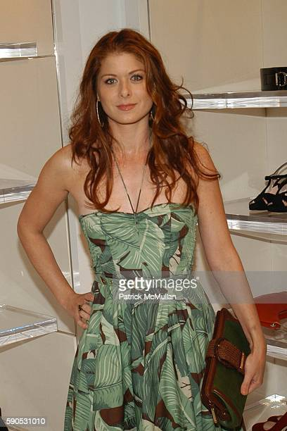 Debra Messing attends Heidi Klum and Michael Kors from the Emmy nominated Project Runway host an Intimate Summer Cocktail Party at Michael Kors Store...