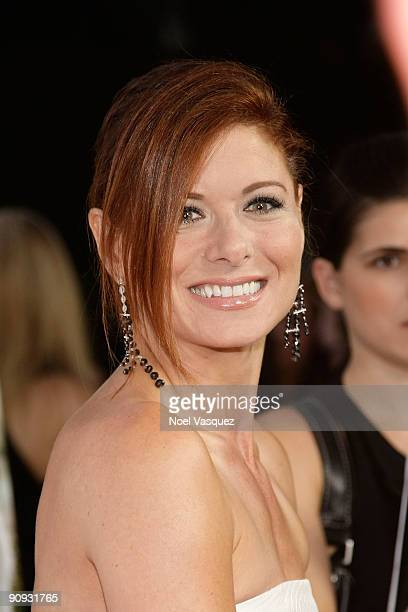 Debra Messing attends Los Angeles Confidential magazine's annual pre-Emmy party, hosted by Heidi Klum and Niche Media CEO Jason Binn, held at a...