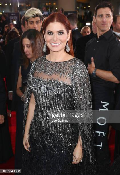 Debra Messing attends Moet Chandon at The 76th Annual Golden Globe Awards at The Beverly Hilton Hotel on January 6 2019 in Beverly Hills California