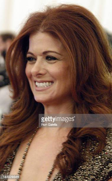 Debra Messing attends Schiaparelli And Prada Impossible Conversations Costume Institute Gala on May 7 2012 at the Metropolitan Museum of Art in New...