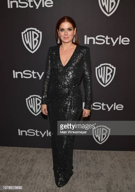 Debra Messing attends the 2019 InStyle and Warner Bros 76th Annual Golden Globe Awards PostParty at The Beverly Hilton Hotel on January 6 2019 in...