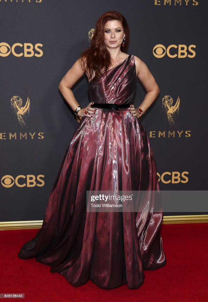 Debra Messing attends the 69th Annual Primetime Emmy Awards at Microsoft Theater on September 17, 2017 in Los Angeles, California.