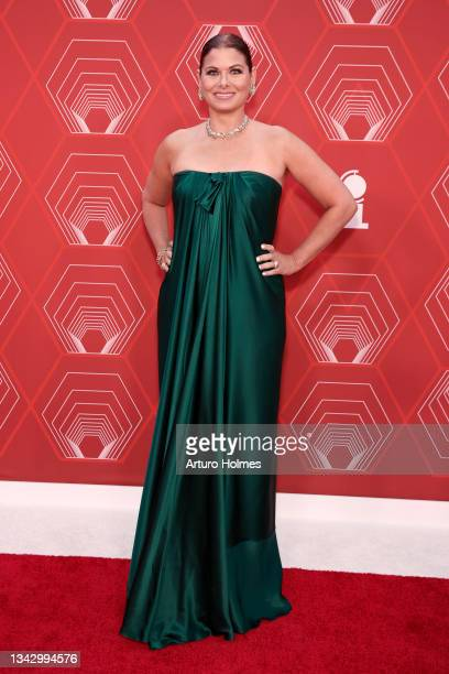 Debra Messing attends the 74th Annual Tony Awards at Winter Garden Theater on September 26, 2021 in New York City.