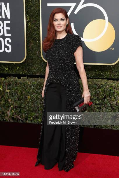 Debra Messing attends The 75th Annual Golden Globe Awards at The Beverly Hilton Hotel on January 7 2018 in Beverly Hills California
