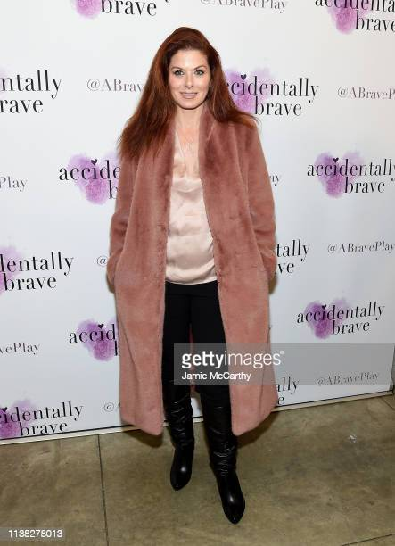 Debra Messing attends the Accidentally Brave Opening Night at DR2 Theatre on March 25 2019 in New York City