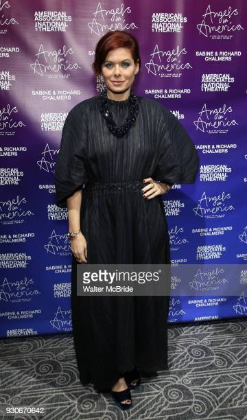 Debra Messing attends The American Associates of the National Theatre's Gala celebrating Tony Kushner's 'Angels in America' on March 11 2018 at the...