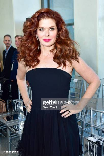 Debra Messing attends the Christian Siriano FW19 Runway Show at Top of the Rock on February 09 2019 in New York City