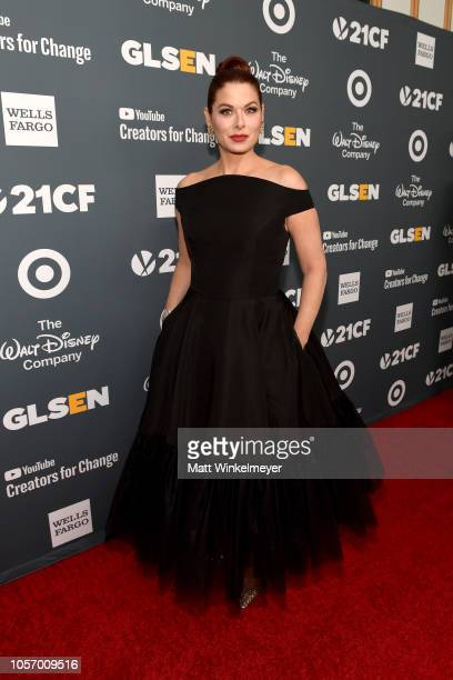Debra Messing attends the GLSEN Respect Awards at the Beverly Wilshire Four Seasons Hotel on October 19 2018 in Beverly Hills California