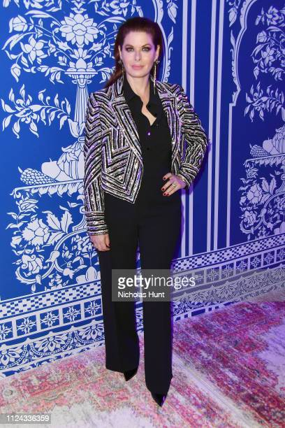 Debra Messing attends the Naeem Khan front row during New York Fashion Week The Shows at Gallery I at Spring Studios on February 12 2019 in New York...