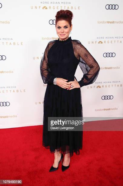 Debra Messing attends the Unforgettable Gala 2018 at The Beverly Hilton Hotel on December 08 2018 in Beverly Hills California