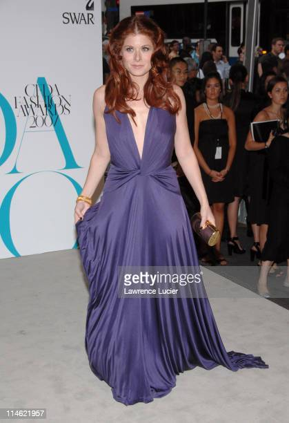 Debra Messing during 2007 CFDA Fashion Awards Red Carpet at New York Public Library in New York City New York United States
