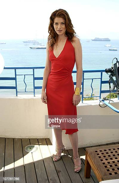 Debra Messing during Cannes 2002 'Hollywood Ending' Press Junket at The Chrysler Million Dollar Film Festival Suite in Cannes France