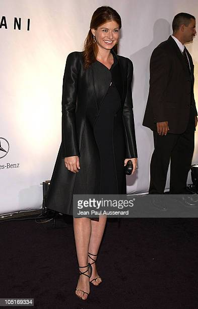 Debra Messing during Giorgio Armani Receives First Rodeo Drive Walk Of Style Award at Rodeo Drive in Beverly Hills California United States