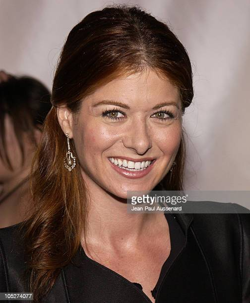 Debra Messing during Giorgio Armani Receives First 'Rodeo Drive Walk Of Style' Award at Rodeo Drive in Beverly Hills California United States