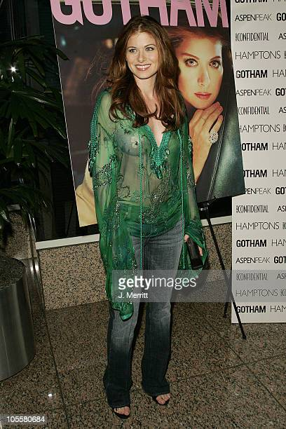 Debra Messing during Los Angeles Confidential Celebrates Gotham Magazine Cover Star Debra Messing at The Maple Drive Atrium in Beverly Hills...