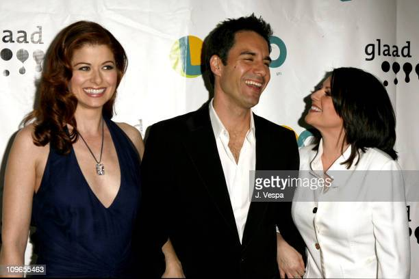 Debra Messing Eric McCormack and Megan Mullally during 17th Annual GLAAD Media Awards Red Carpet at Kodak Theater in Los Angeles California United...