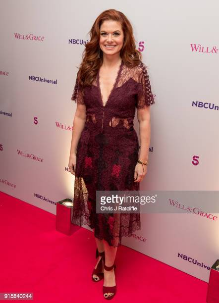 Debra Messing from Will Grace during a BAFTA screening plus QA at BAFTA on February 8 2018 in London England