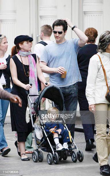 Debra Messing husband Daniel Zelman and son Roman Walker