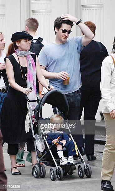 Debra Messing husband Daniel Zelman and son Roman Walker