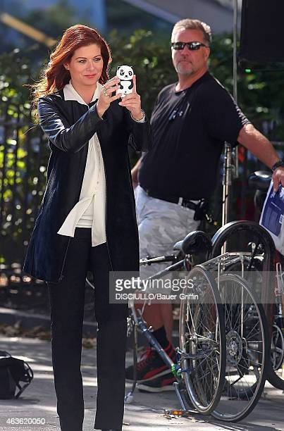 Debra Messing is seen at the set of 'Smash' on August 29 2012 in New York City