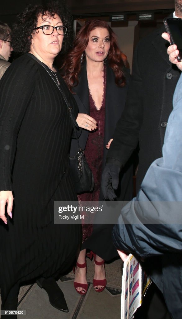 Debra Messing leaving BAFTA after Will & Grace - TV screening / Q&A on February 8, 2018 in London, England.