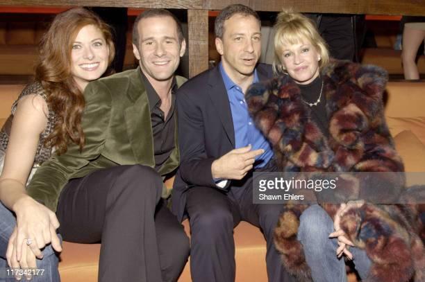 Debra Messing Max Mutchnick David Kohan and Melanie Griffith