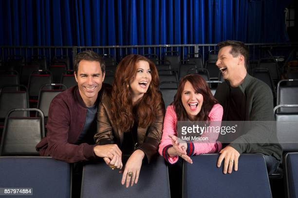 Debra Messing Megan Mullally and Sean Hayes of NBC's 'Will Grace' for Los Angeles Times on September 7 2017 in Los Angeles California PUBLISHED IMAGE...