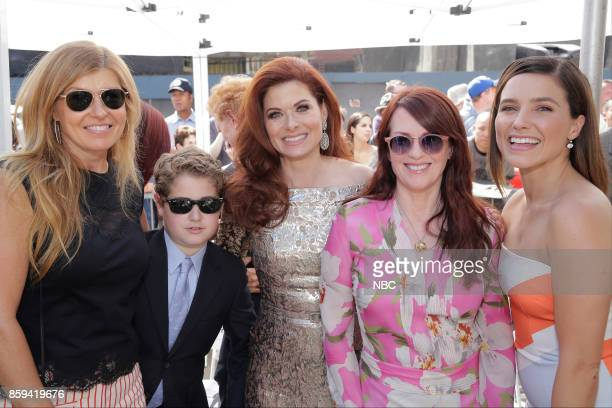 WILL GRACE Debra Messing on the Hollywood Walk of Fame Pictured Connie Britton Roman Walker Zelman Debra Messing Megan Mullally Sophia Bush at the...