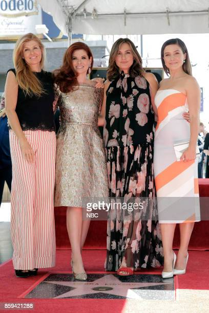 WILL GRACE 'Debra Messing on the Hollywood Walk of Fame' Pictured Connie Britton Debra Messing Mariska Hargitay Sophia Bush at the honoring of Debra...