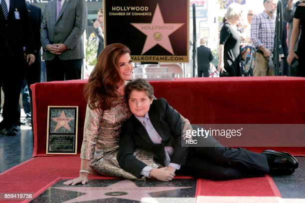 WILL GRACE Debra Messing on the Hollywood Walk of Fame Pictured Debra Messing Roman Walker Zelman at the honoring of Debra Messing with a star on the...