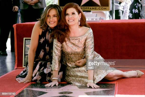 WILL GRACE 'Debra Messing on the Hollywood Walk of Fame' Pictured Mariska Hargitay Debra Messing at the honoring of Debra Messing with a star on the...