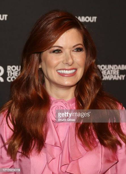 "Debra Messing poses at a photo call for the upcoming new play ""Birthday Candles"" on Broadway at The American Airlines Theatre Penthouse Lounge on..."