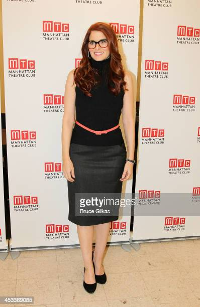 Debra Messing poses at the 'Outside Mullingar' cast photo call at Manhattan Theatre Club Rehearsal Studios on December 3, 2013 in New York City.