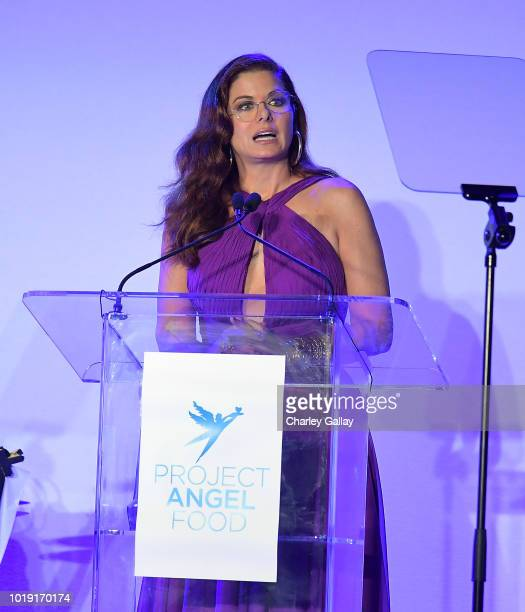 Debra Messing receives the Angel Award at Project Angel Food's 2018 Angel Awards on August 18 2018 in Hollywood California