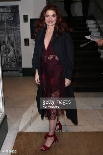 Debra Messing seen arriving at BAFTA for a Will Grace screening on February 8 2018 in London England