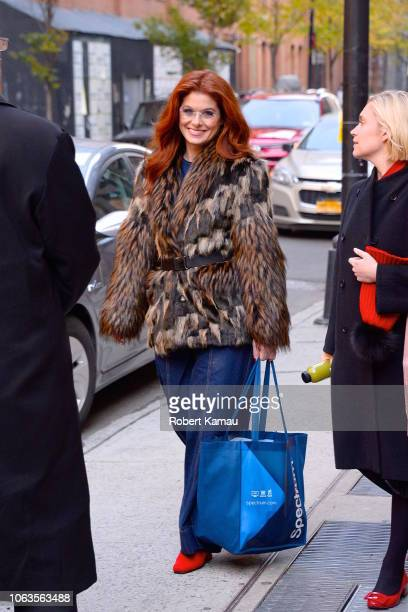 Debra Messing seen out and about in Manhattan on November 19 2018 in New York City
