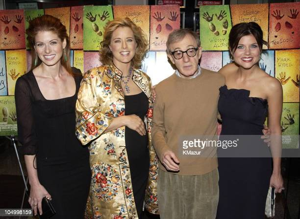 Debra Messing Tea Leoni Woody Allen and Tiffani Thiessen