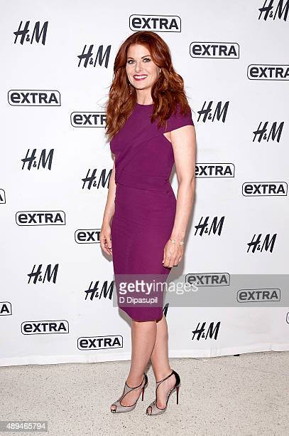 Debra Messing visits Extra at their New York studios at HM in Times Square on September 21 2015 in New York City