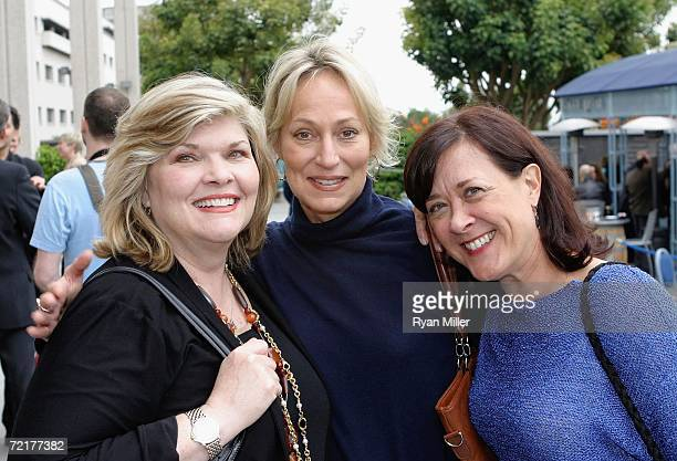 Debra Monk Sandahl Bergman and Karen Ziemba attend the opening performance of Nightingale a onewoman play written and performed by Lynn Redgrave at...