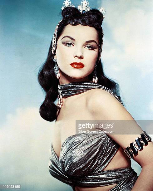 Debra Paget, US actress, in costume in a publicity portrait issued for the film, 'Princess of the Nile', USA, 1954. The adventure film, directed by...