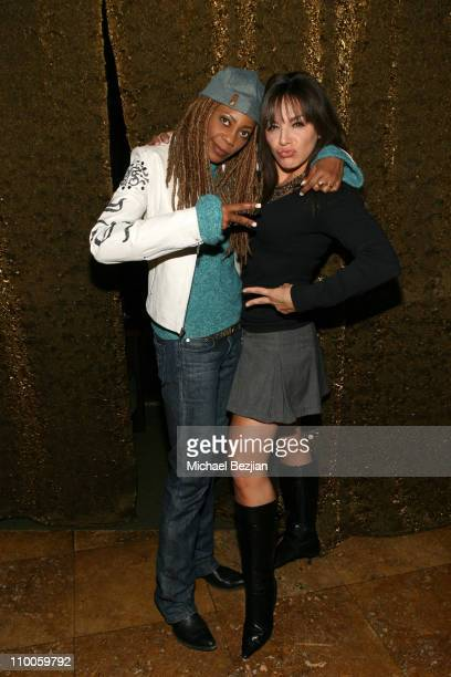 Debra Wilson and JillMichele Melean during JillMichele Melean's DVD Release Party Hosted by Keith Collins at Sideways in Hollywood California United...