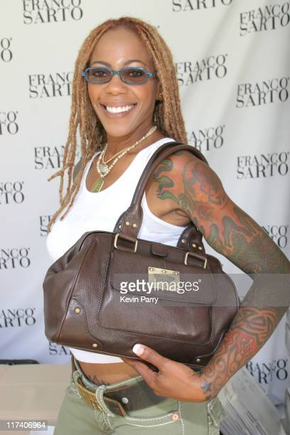 Debra Wilson at Franco Sarto during The Silver Spoon Hollywood Buffet PreEmmys Day 2 in Los Angeles California United States Photo by Kevin...