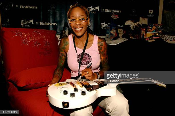 Debra Wilson during Gibson/Baldwin Presents Night at the Net To Benefit MusiCares Foundation Green Room at UCLA in Los Angeles California United...