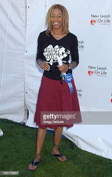 Debra Wilson during Nuts for Mutts Celebrity Judged Dog Show at Pierce College in Woodland Hills California United States
