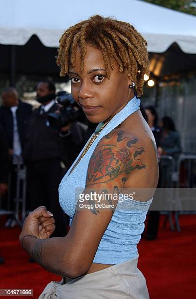 Debra Wilson of Mad TV during The 16th Annual Soul Train Music Awards Arrivals at LA Sports Arena in Los Angeles California United States
