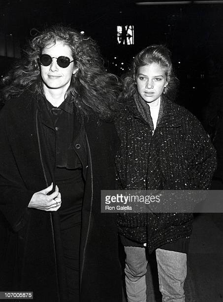 Debra Winger and Ari Meyers during Debra Winger at a Taping of Saturday Night Live at NBC TV Studios in New York New York United States